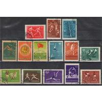 СССР Спартакиада народов СССР футбол виды спорта 1956 год полная гашеная серия из 14-ти марок
