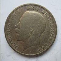 Великобритания Пол кроны 1922. Серебро  .1Б-28