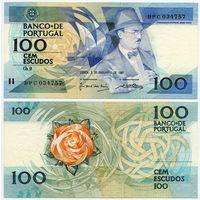 Португалия. 100 эскудо (образца 1987.12.03 года, P179d, подпись 4, UNC)