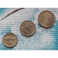 Словения набор монет 1, 2, 5 толаров, AU. Рыбы. Ласточка. Баран. Инвестируй выгодно в монеты планеты!