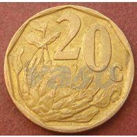 6038:  20 центов 1997 ЮАР