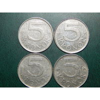 Швеция 5 крон цена за монету (список)