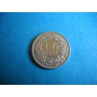 Швейцария 1 франк 1981 г.