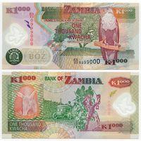 Замбия. 1000 квача (образца 2011 года, P44h, UNC) [#0999000]