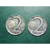 Чехия 2 кроны цена за монету (список)