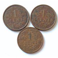 Нидерландские Антилы, 1 цент 1957, 1963, 1968 г