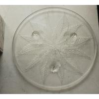 Стеклянный поднос в стиле Ар Деко Блюдо для торта