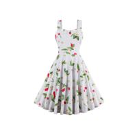 Платье - сарафан с вишнями 50-52