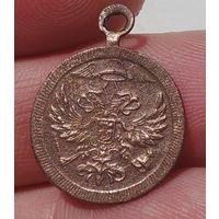 Интересный и необычный жетон, медальон, подвеска, двуглавый орёл с шапкой меркурия и крыльями!