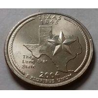 25 центов, квотер США, штат Техас, P D