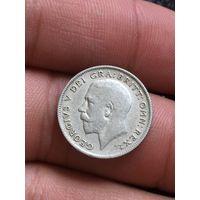 6 пенсов 1922 Георг в блеске Серебро!