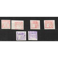 Украина 6 марок г. Ровно провизорий оригинал