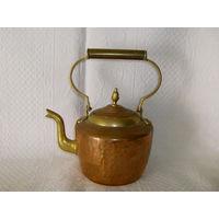Чайник - 1,5 литра. Медь + латунь.