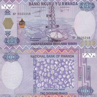 Руанда 2000 франков образца 2014 года UNC p40