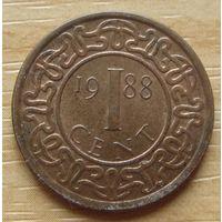 СУРИНАМ-1цент1988г.    KM# 11b