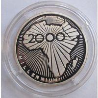 Час, 500 франков, 2000, миллениум, серебро, пруф