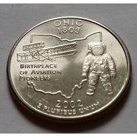 25 центов, квотер США, штат Огайо, P D