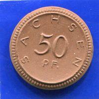 Германия , Саксония 50 пфеннигов 1921 , Мейсенский Фарфор