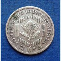 Южная Африка Британский доминион 6 пенсов 1936 Георг V