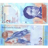 Венесуэла. 2 боливара 2014 [UNC]