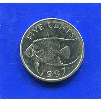 Бермудские острова 5 центов 1997 UNC