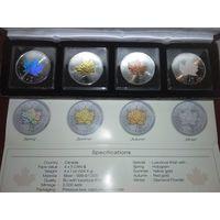 Набор монет 5$. 2014. Времена года.
