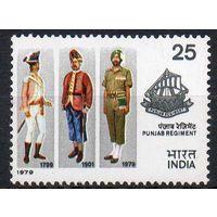 Военные Индия 1979 год чистая серия из 1 марки