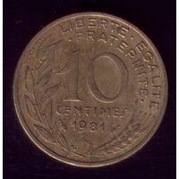 10 сантимов 1981 год Франция
