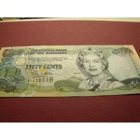 Пол доллара Багамы 2001 год UNC.