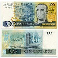 Бразилия. 100 крузадо (образца 1987 года, P211c, UNC)