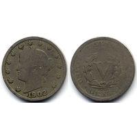 5 центов 1902, США