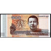 Камбоджа 100 риелей 2014 г. (Pick NEW) UNC  распродажа