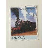 Ангола 2000. Локомотив. Железная дорога. Поезда.