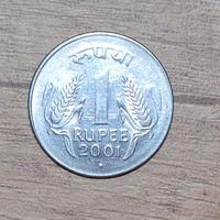 Индия 1 рупия 2001г.