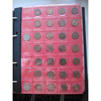 ПОЛНАЯ КОЛЛЕКЦИЯ Германия ФРГ 1 пфенниг 1948-1994 все монетные дворы - 134 монеты, погодовка без повторов! + бонус