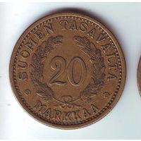 Финляндия. 20 марок 1935 г.
