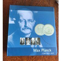 Качественный альбом немецкого производства для погодовки монет номиналом 2 марки Макс Планк со всеми монетными дворами