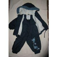 Комбинезон Wojcik (куртка и полукомбинезон), р.80-86 99 В отличном состоянии, хлопковая подкладка, наполнитель синтепон. Обмеры куртки: между плечевыми швами 31 см. длина по спинке – 36,5 см, дл бььтт