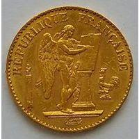 20 франков 1895А Ангел