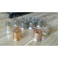 Подстаканники СССР 10 шт + стаканы бонусом  Сборный лот