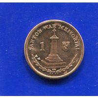 Остров Мэн 1 пенни 2007 UNC