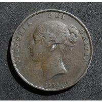 Великобритания 1 пенни, 1854