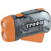Фонарь Трофи Динамо TD2 2xLED L1131 ремешок, карт.