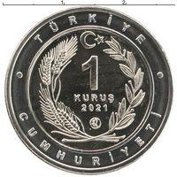 Турция 1 куруш 2021 Каракал UNC