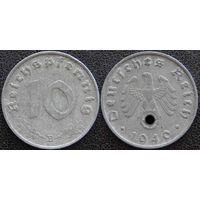 YS: Германия, Третий Рейх, 10 рейхспфеннигов 1940B, КМ# 101
