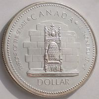 Канада, 1 доллар 1977 года, KM# 118, Ag 500/ 23,328 грамма, Elizabeth II Silver Jubilee, РАСПРОДАЖА