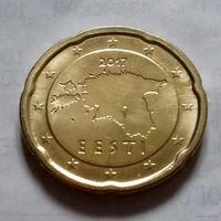 20 евроцентов, Эстония 2017 г., UNC