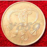 7153:  5 центов 1985 Кипр