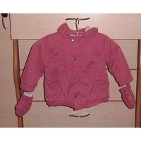 Куртка зимняя фирма Vertbaudet рост 86