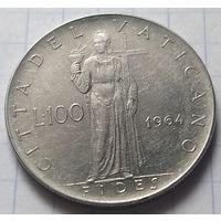 Ватикан 100 лир, 1964              ( 6-2-4 )